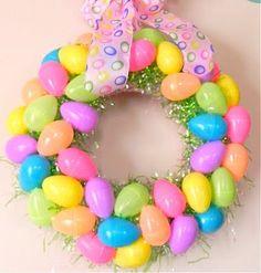 DIY easter egg wreath #simple #craft