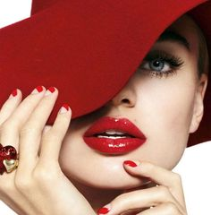 red fashion, valentine day, color, red hats, sombrero, red nails, red lips, lipstick, fashion photography
