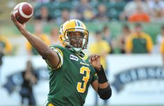 Quarterback Steven Jyles of the Edmonton Eskimos against the B.C. Lions at Commonwealth Stadium in Edmonton on Saturday, Sept. 22, 2012.