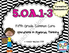 5th Grade OA.1-3 Formative Assessments! CCSS! from Create abilities on TeachersNotebook.com -  (10 pages)  - 5th Grade OA.1-3 Formative Assessments! CCSS!