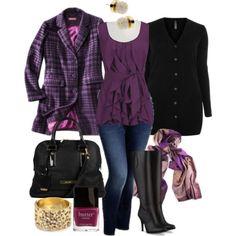 fashion, shades of purple, style, color, shirts, plus size outfits, plus size clothing, black, coat