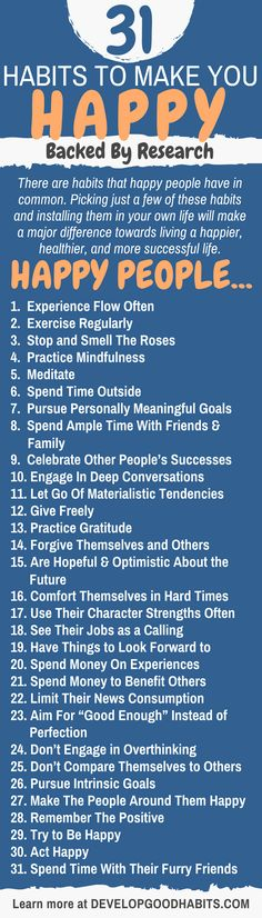 31 Habits to Make Yo