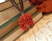Coral Tree of Life Pendent