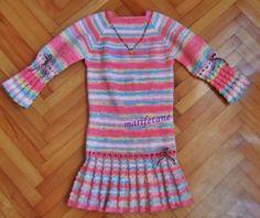 Kızımın yeni örgü elbisesi... DİĞER RESİMLER VE AÇIKLAMA İÇİN: http://www.marifetane.com/2014/10/acklamal-kz-cocuk-orgu-elbise-knitted.html
