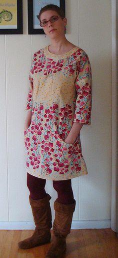 Lisette Portfolio Dress in velveteen, Simplicity 2245