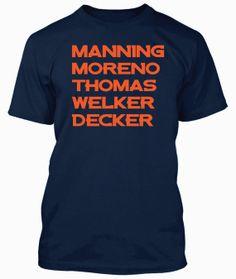 Denver Broncos Peyton Manning shirt Football by Newgeneration777, $12.99