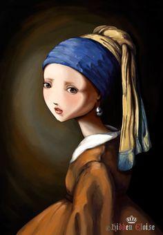 Girl with a pearl earring...wonderful!