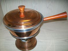 Copper 5 piece Casserole Serving Dish with Stand by NANCYSANTIQUES, $15.99