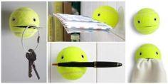 Idea para reutilizar pelotas de tenis rotas manualidad, crafti idea