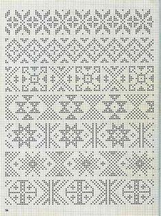 Орнаменты для вязания свитеров 21