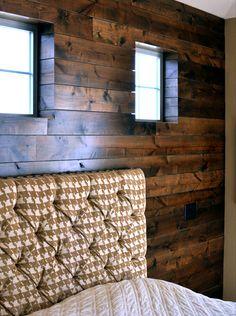 Wood accent wall - brilliant!