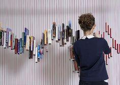 book displays, bookshelf design, bookcases, shelves, raw edg, small spaces, book design, design studios, weaving