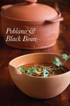 Black Bean Soup with Poblano Chilies 2 fresh poblano chiles raw ...