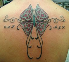 Irish Tattoo Designs and Meanings | celtic butterfly tattoo designs | Tattoos10