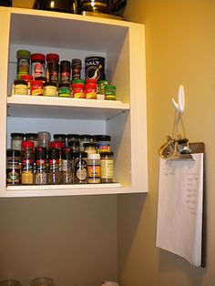 Love her clipboard in this organized pantry! Great idea!