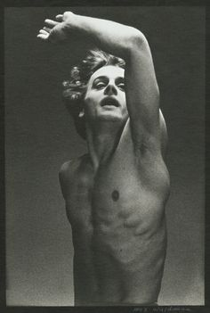 Electric!!  A young Baryshnikov in the ballet, Le Jeune Homme et la Mort. Photo by Max Waldman.