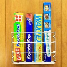 Kitchen Wrap Storage Rack for Foil/Plastic Wrap