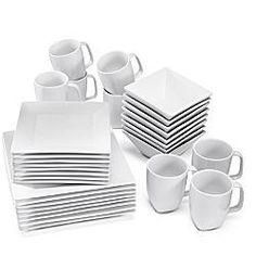 white square dishes- yes, please.