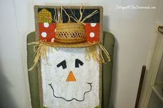 how to paint scarecrows on burlap