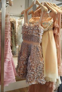 ruffles little dresses, pastel, fashion, vintage closet, style, ruffl, bridesmaid dresses, cocktail dresses, parti