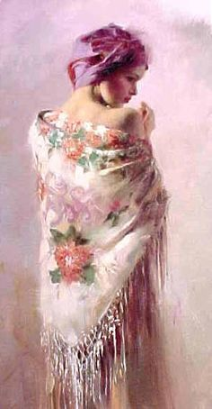 LOVE the #Shawl and #Painting