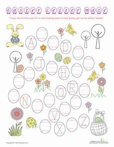 Easter Alphabet Maze