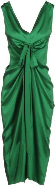34 Length Dress - Lyst