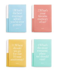 """20 questions"" wedding guestbooks"