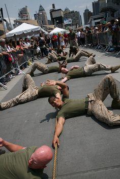 Marines, Navy compete in Tug-of-War during Fleet Week 2010 by NYCMarines, via Flickr