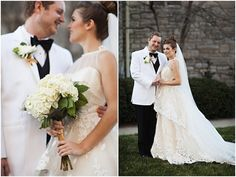 classic, elegant white wedding http://su.pr/7hh22m photos by Honey Heart Photography