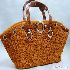 Beautiful crocheted handbag: fully charted