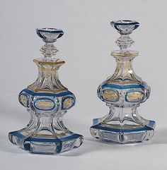 Tiered Perfume Bottles, a Pair     French, early 20th century