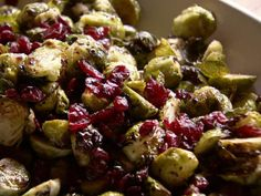 Ree ramps up these roasted Brussels Sprouts with Balsamic and Cranberries. #ThePioneerWoman