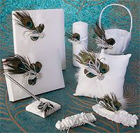 Beverly Clark Peacock Wedding Accessories Collection