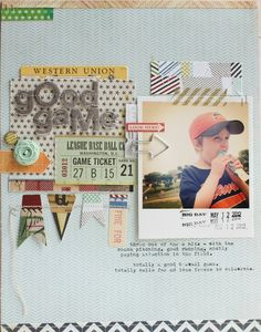 Good Game layout by Lisa Truesdell #scrapbooking