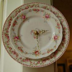 Vintage china clock - beautiful
