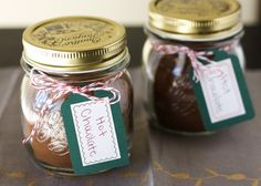 Hot chocolate in a jar gifts