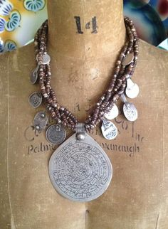 Antique Moroccan Berber Amulets+Silver Beads - Victoria Z Rivers Jewelry