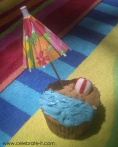 Beach Theme Party Cupcake