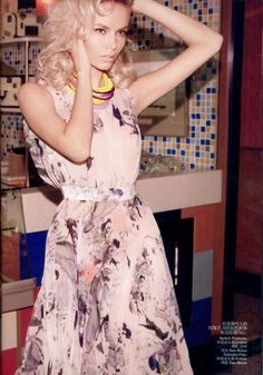 Retro Diner Editorials  The Vogue China 'The New Fifties' Shoot is Elegantly Seductive