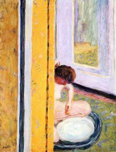 Nude Crouching in a Tub / Pierre Bonnard - circa 1914