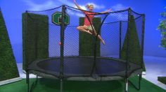 OFFERING A 14 FOOT DIAMETER JUMPING SURFACE, THIS TRAMPOLINE FEATURES APPROXIMATELY 113 SQUARE FEET OF PLAY SPACE. STAY FIT, HAVE FUN, AND PLAY  SAFE. . .WITH JUMPSPORT.