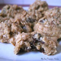 Chewy, Oatmeal Chocolate Chip & Walnut Cookies