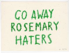 Rosemary Haters Risograph Print by ashleyronning on Etsy, $14.00