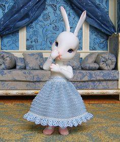crochet doll skirt