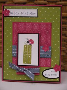 A Ladybug Birthday using Stampin Up Birthday Whimsy