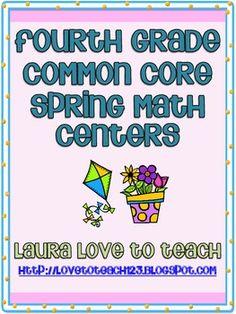 4th Grade Common Core Math Centers