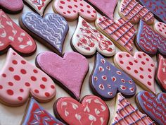 Gorgeous V-day cookies