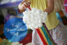 Easy yarn rainbow and other Noah's ark crafts