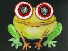 que la mujer del artista: Ojos tejidas - Ranas